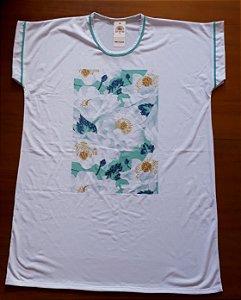 Camisetão floral verde e azul