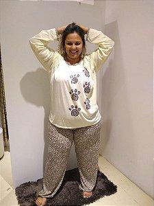 Pijama longo oncinha