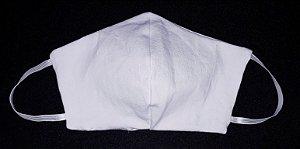 Máscara reutilizável branco c/ risca de giz