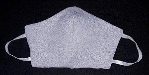 Máscara reutilizável cinza mescla c/risca de giz