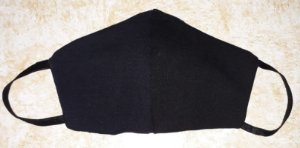Máscara reutilizável preto c/risca de giz