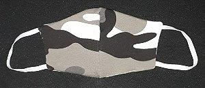 Máscara reutilizável militar cinza