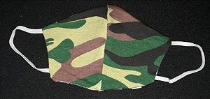Máscara reutilizável militar verde c/listras