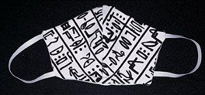 Máscara reutilizável egito c/branco