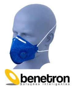 Máscara Respirador Profissional Classe PFF2 Contra Vírus e Bactérias Pacote c/ 1un