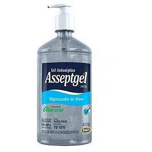 Álcool Gel para Mãos 70% 420g Asseptgel