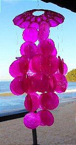 capiz chime (placuna placenta ) pink 30 cm - unid