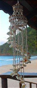 chandelier w/ white cockles 80 cm - unid