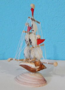 sail boat canarium w/ balensanha 15 cm  - unid