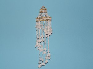 chandelier white moon shel 160 cm - unid