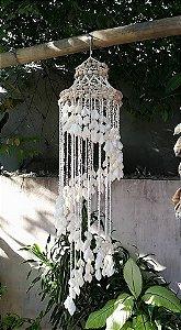 chandelier white sola 120 cm unid