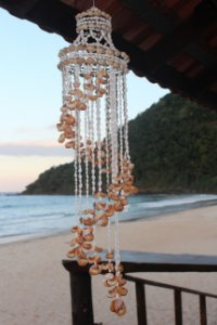 chandelier brown moonshell 220 cm - unid