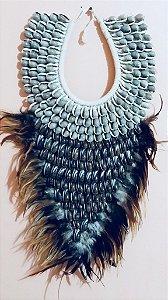 necklace mop olive bown/strombus luhuanus cut - unid