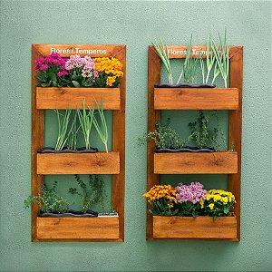 Horta/Floreira Vertical de Parede 120x58cm