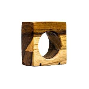 Conjunto Argola em Teca - 4 peças