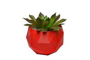 Vaso Vermelho para Cactos e Suculentas