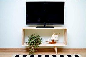 Rack para TV em Madeira de Pinus com Pés torneados