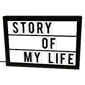 Luminária Story Of My Life