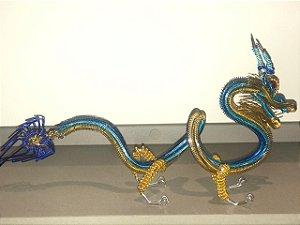 Dragão Estilizado com Arame Galvanizado Colorido