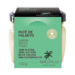 Patê de Palmito saborizado Ervas Finas NATUPALM 12 unid x 100g