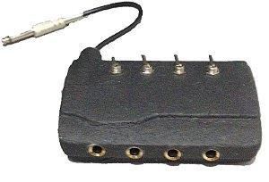 Hub Adaptador Power Inverter P/ 4 Máquinas - Preto