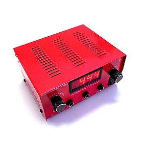 Fonte Dc Digital P/ 2 Máquinas P10 - Vermelha