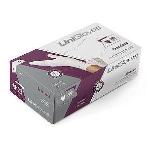 Caixa de Luva Branca Em Látex - 100 Unidades