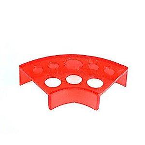 Porta Batoque Acrílico 3 Tamanhos - Vermelho