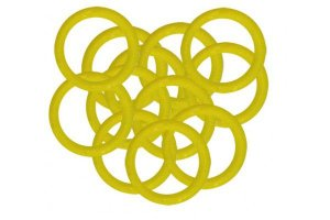 Borracha Oring Premium P/ Molas 10 Unidades - Amarelo