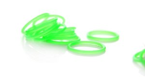 Borracha Oring Premium P/ Molas 10 Unidades - Verde
