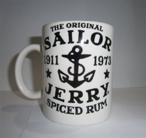 Caneca Porcelana Sailor Jerry - Mod 12