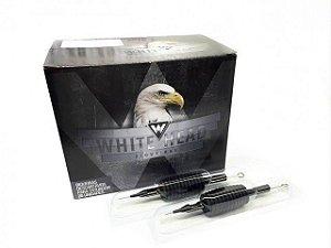Biqueira Descartável White Head 25mm C/ Agulha  - Pintura Magnum - Caixa C/ 20 Unidades