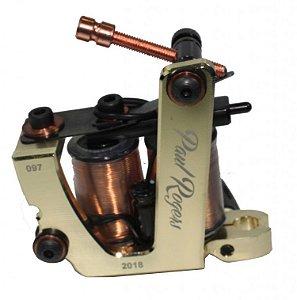 Maquina Lauro Paolini Paul Rogers Aluminio Dourada - Hibrida