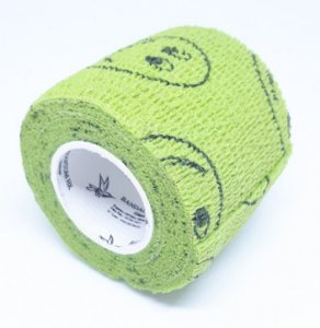 Bandagem Fita Adesiva Auto Aderente - Grass Green With Smiley