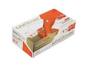 Caixa De Luva Látex Laranja - 100 Unidades