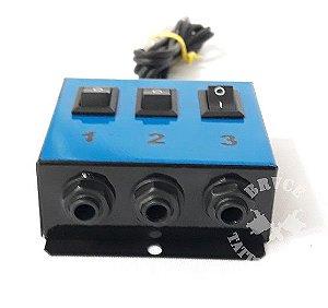 Hub Adaptador New P/ 3 Maquinas - Azul