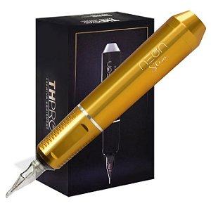 Maquina Rotativa TH Pró Neon Pen Slim - Amarelo Ouro
