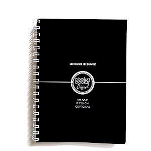 Caderno De Desenho Para Treinos - 100 Páginas Em Branco - 17cm X 24cm
