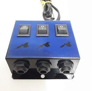 Hub Adaptador New P/ 3 Maquinas - Azul Escuro