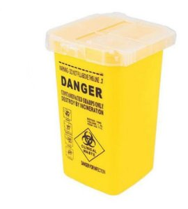 Pote Plástico P/ Descarte De Agulhas Amarelo 1L