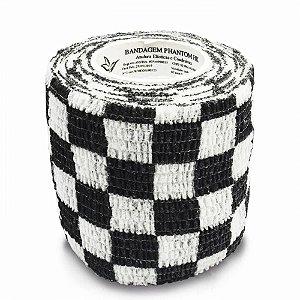 Bandagem Fita Adesiva Auto Aderente - Black Grid