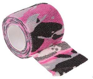 Bandagem Fita Adesiva Auto Aderente - Pink Camo
