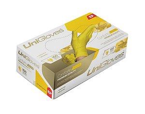 Caixa De Luva Látex Amarela - 100 Unidades