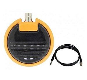 Pedal Metal Round - Amarelo