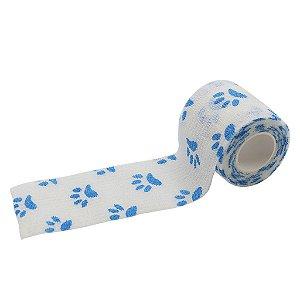 Bandagem Fita Adesiva Auto Aderente - Blue Paw
