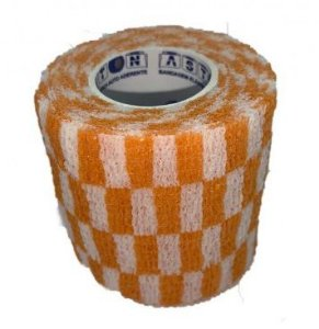 Bandagem Fita Adesiva Auto Aderente - Orange Grid