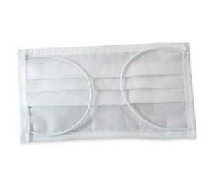 Máscara Descartável Dupla Branca C/ Clip Nasal - 25 Unidades