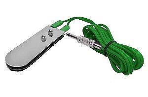Pedal Slim Chapinha Fio De Silicone P10 - Verde