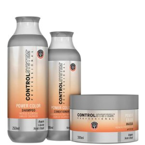 Kit Control System Power Color Treatment - Shampoo, Condicionador e Máscara