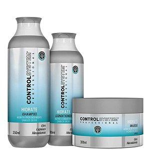Kit Control System Hidrate - Shampoo, Condicionador e Máscara